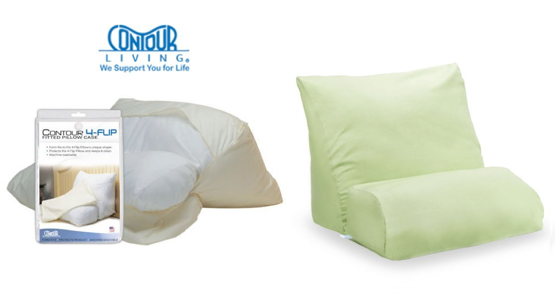 10 in 1 flip pillow cover green this pillow cover provides a snug fit for the 10 in 1 flip pillow s standard size unique shape by contour products