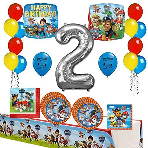 Paw Patrol Happy 2nd Birthday Party Supply And Balloon Bundle Walmart Com Walmart Com