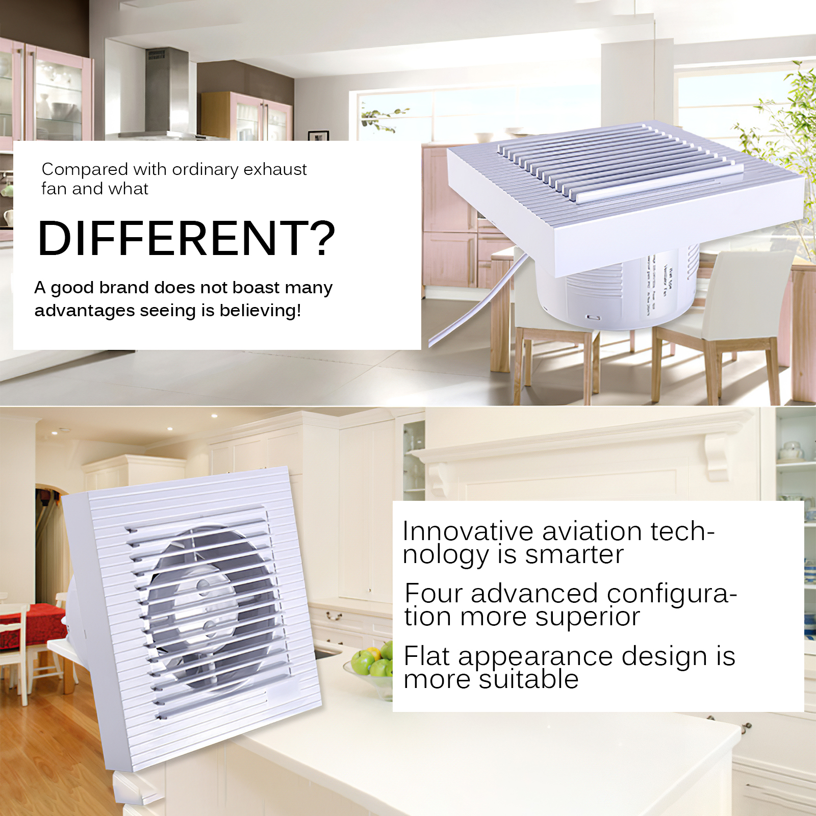 houkiper ventilation fan square silent