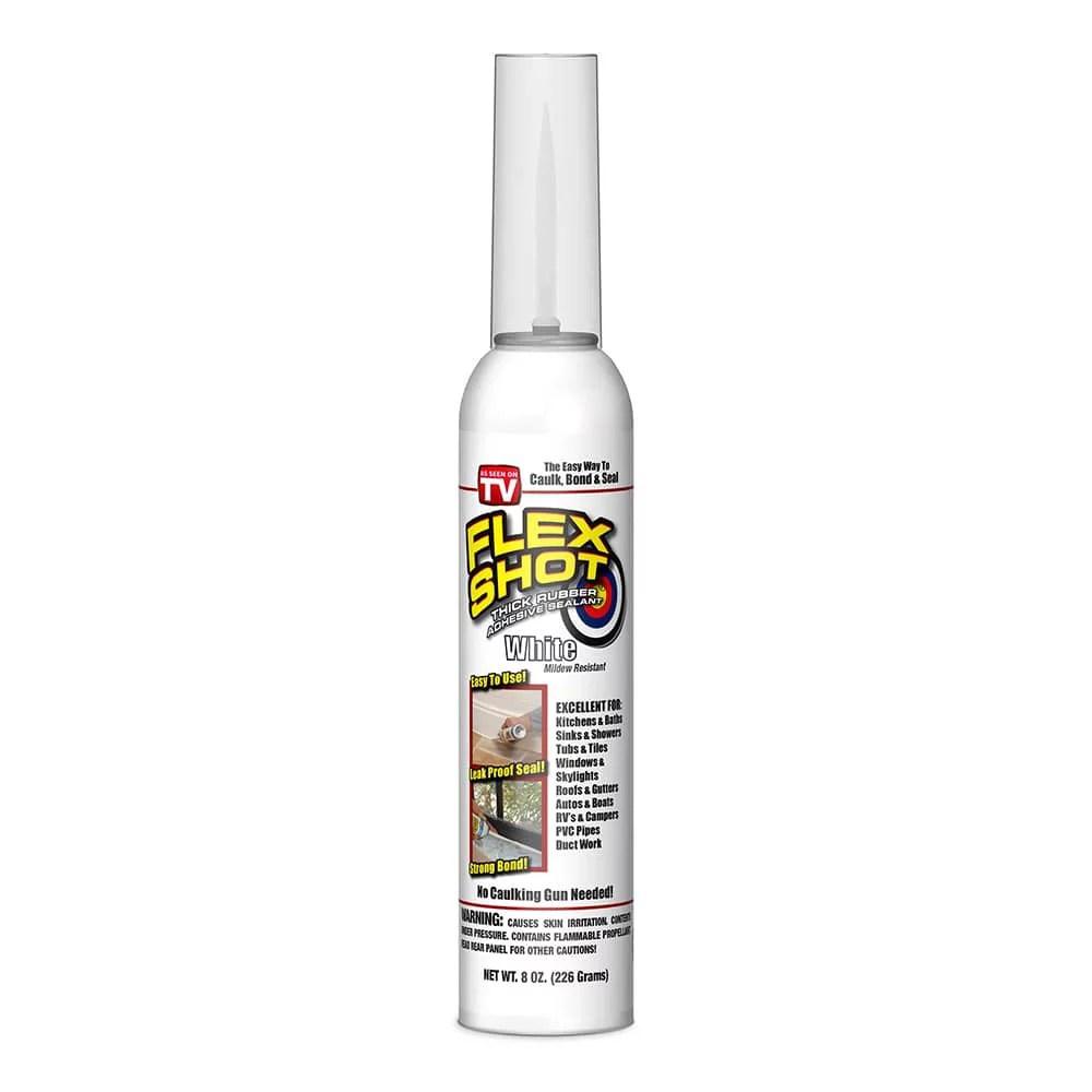 flex seal shot rubber adhesive sealant caulk 8 oz white walmart com