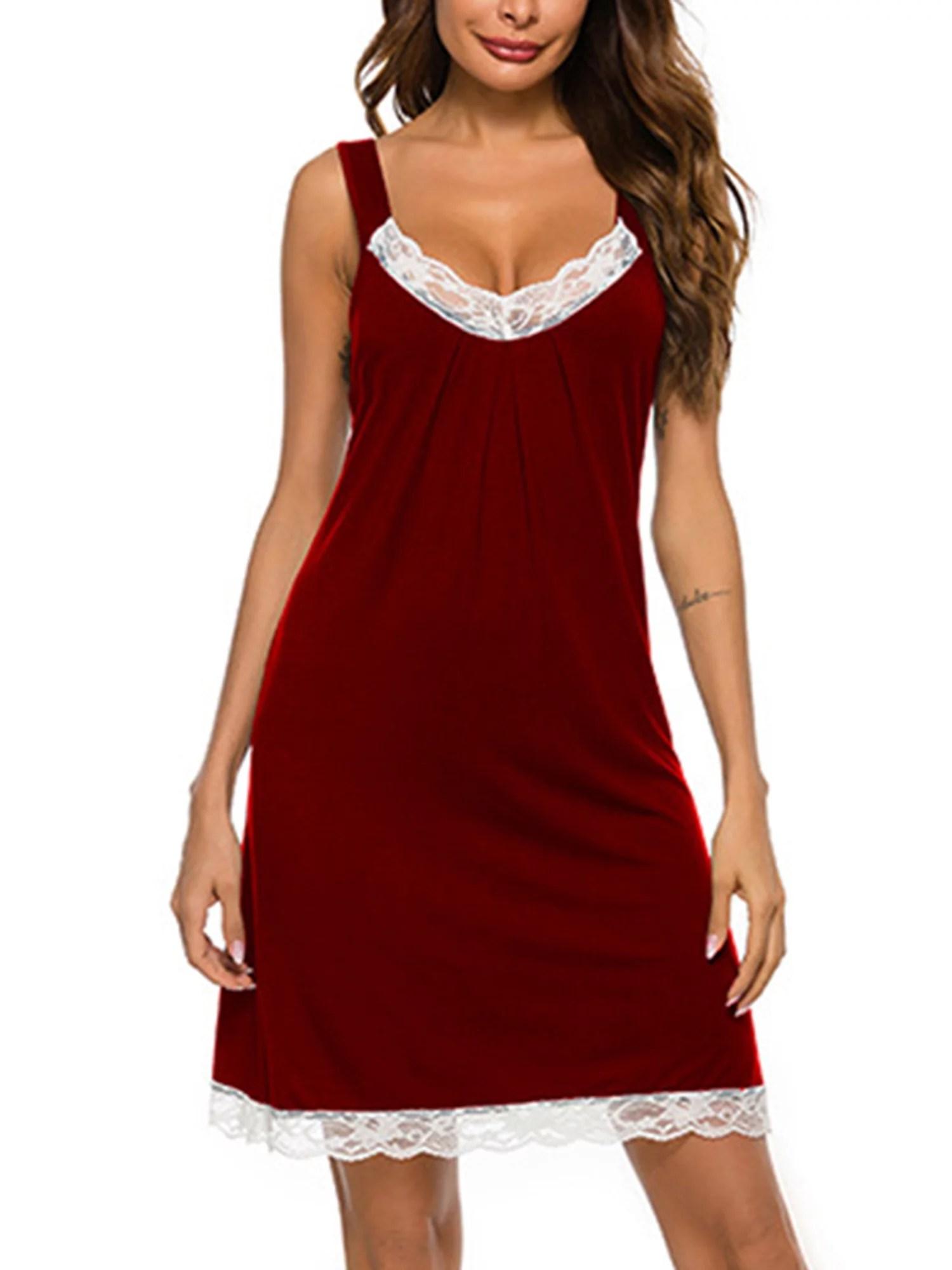 women sleeveless long nightgown summer full slip sleep dress soft nightshirt chemise sleepwear lounge dresses
