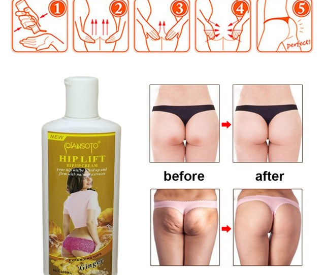 Creamy Ginger Hip Up Cream Hip Lift Up Butt Buttock Hip Massage Cream Ass Bigger