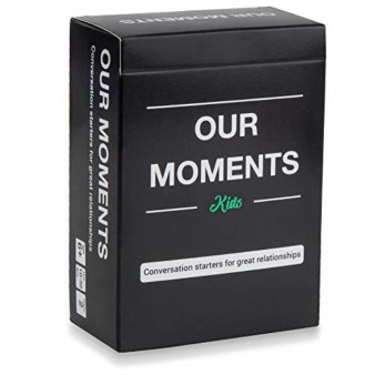 OUR MOMENTS Kids: 100 Conversation Starters for Parent-Child Relationship Building - Fun Family Road Trip, Dinner or Bed Time Card Game