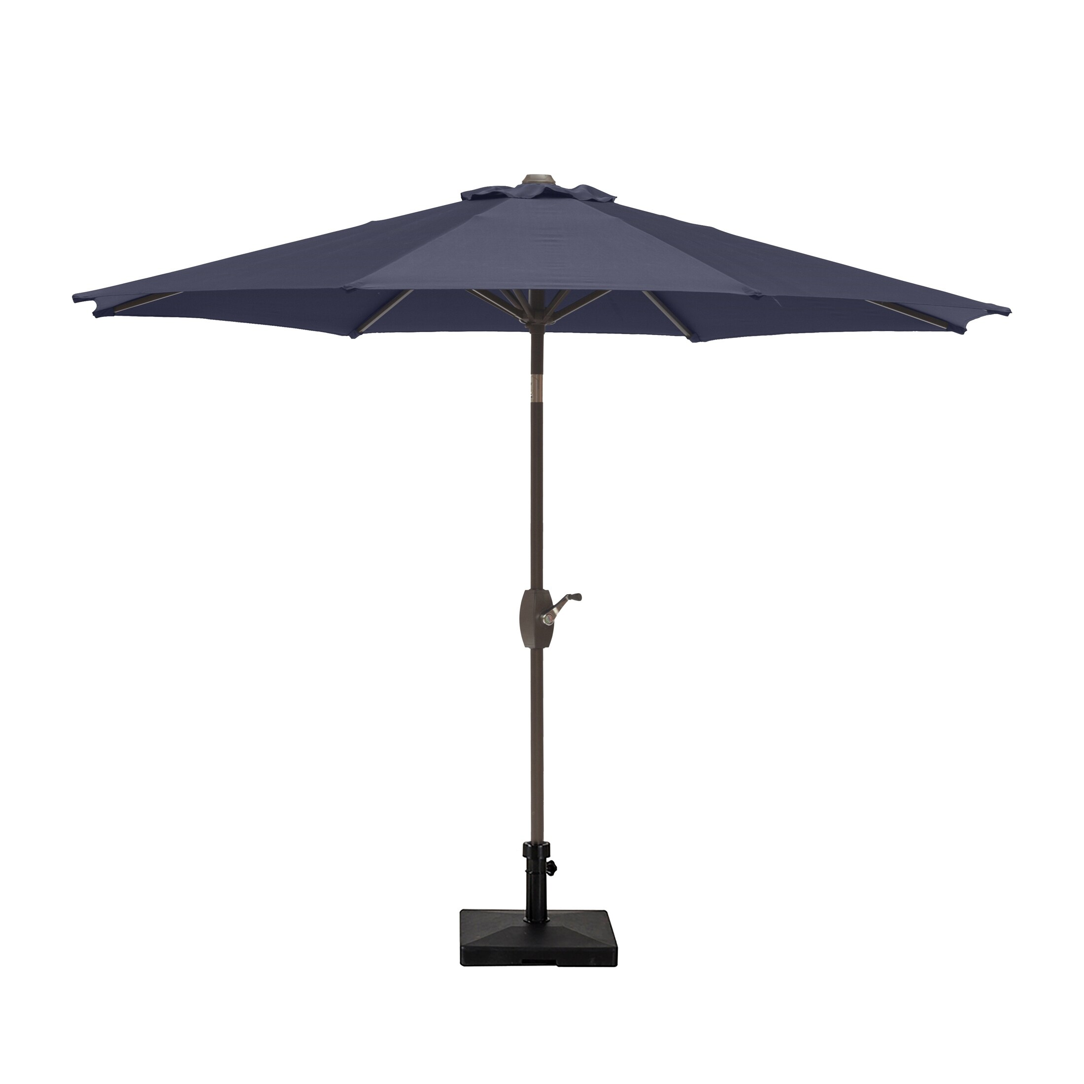 9 ft outdoor patio market table umbrella with square concrete base lime green