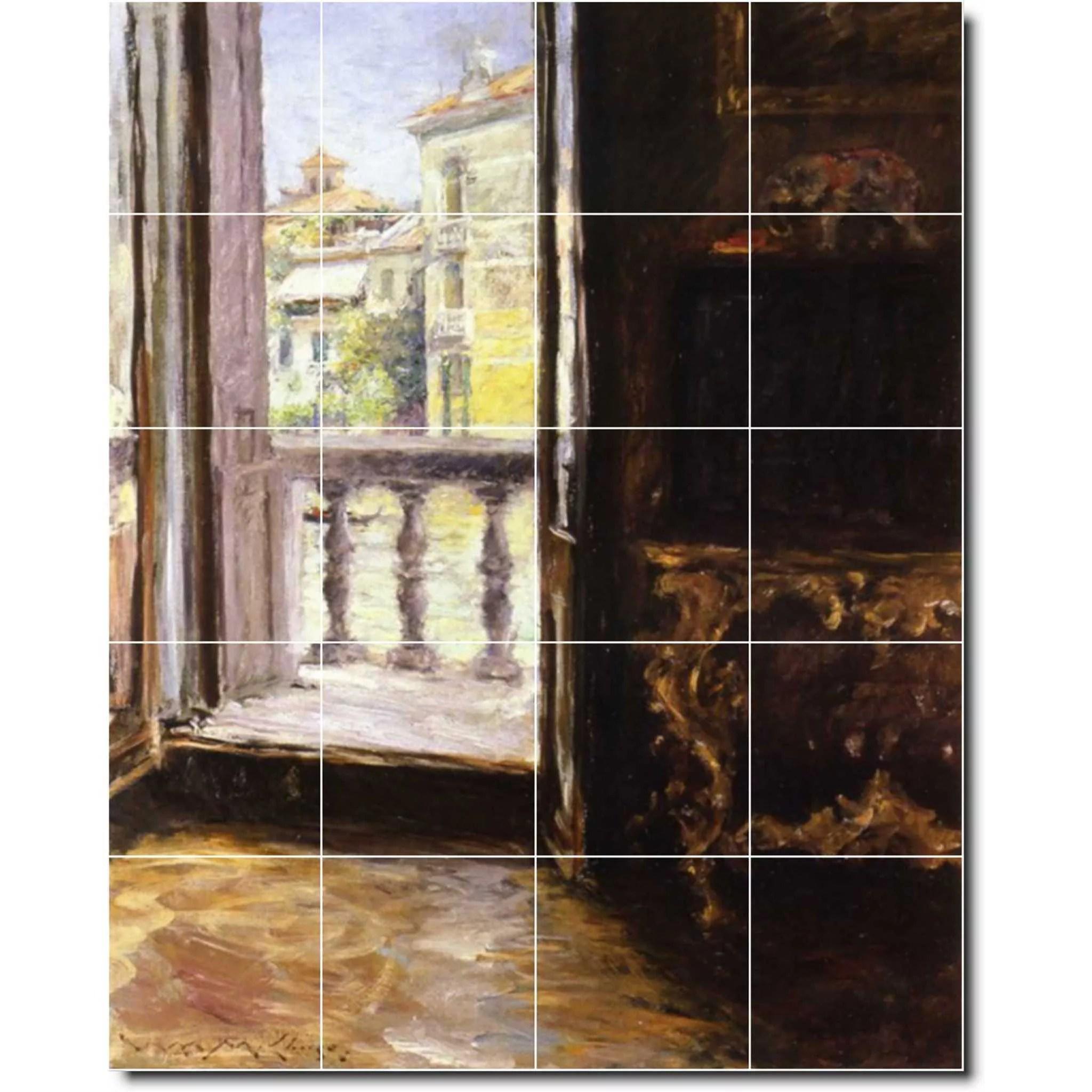 https www walmart com ip ceramic tile mural william chase city floor tile mural 22 48 w x 60 h using 20 12 x 12 ceramic tiles 282888065