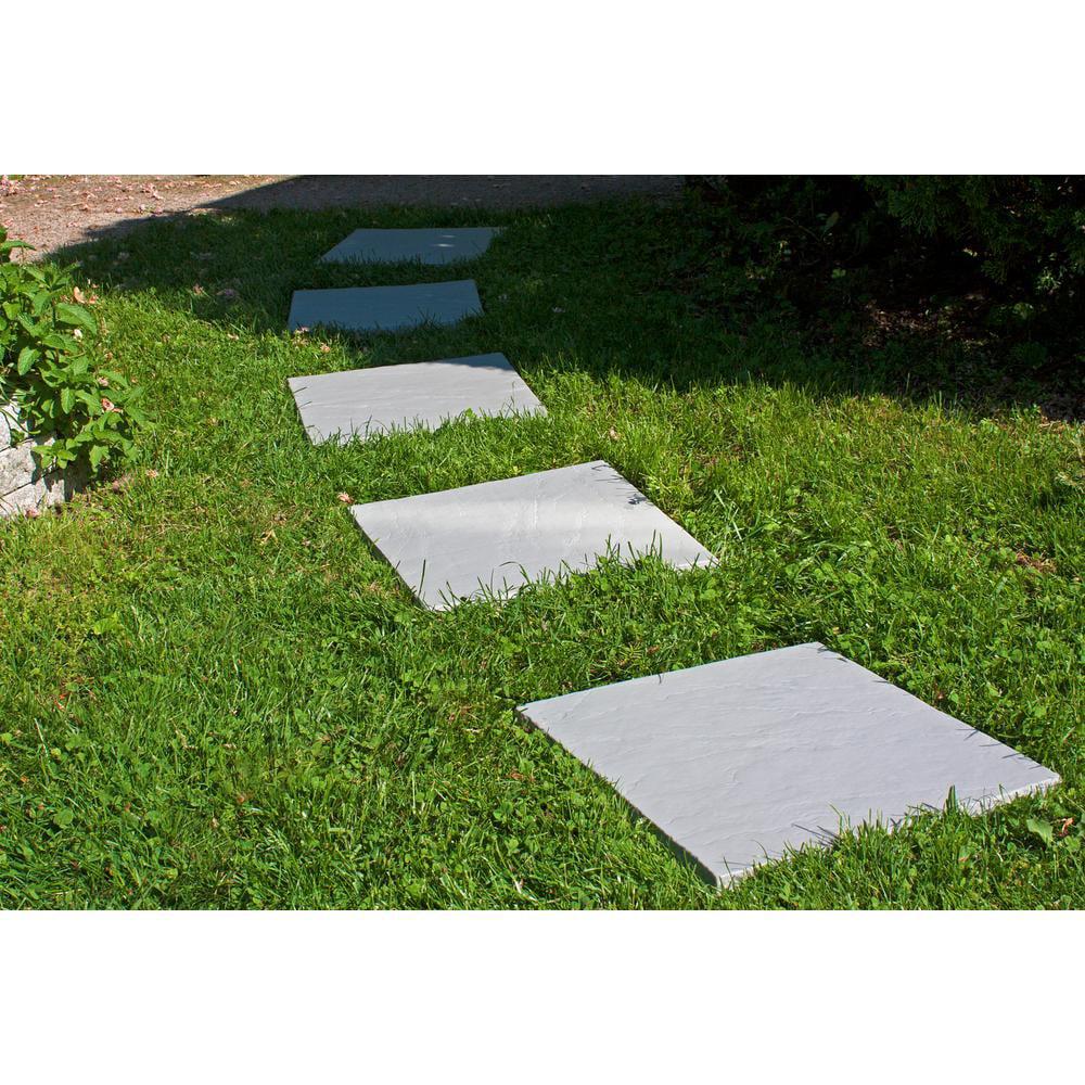 flat rock grey plastic resin lightweight duty patio paver 12 pieces