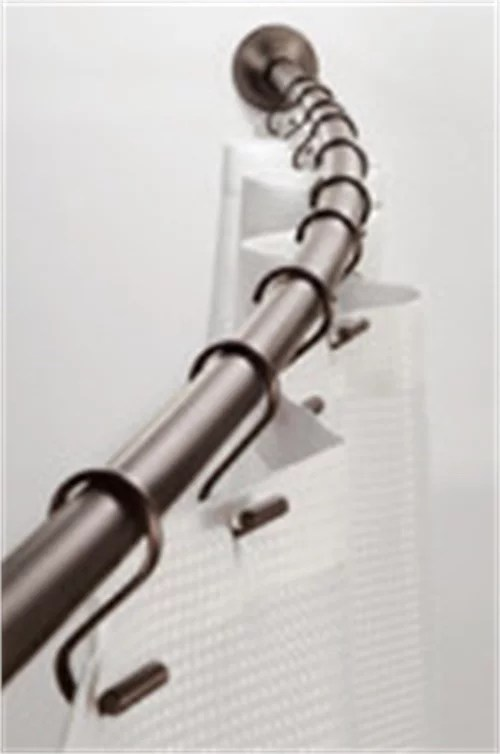 interdesign 79070 41 72 bronze wall mount curved shower curtain rod