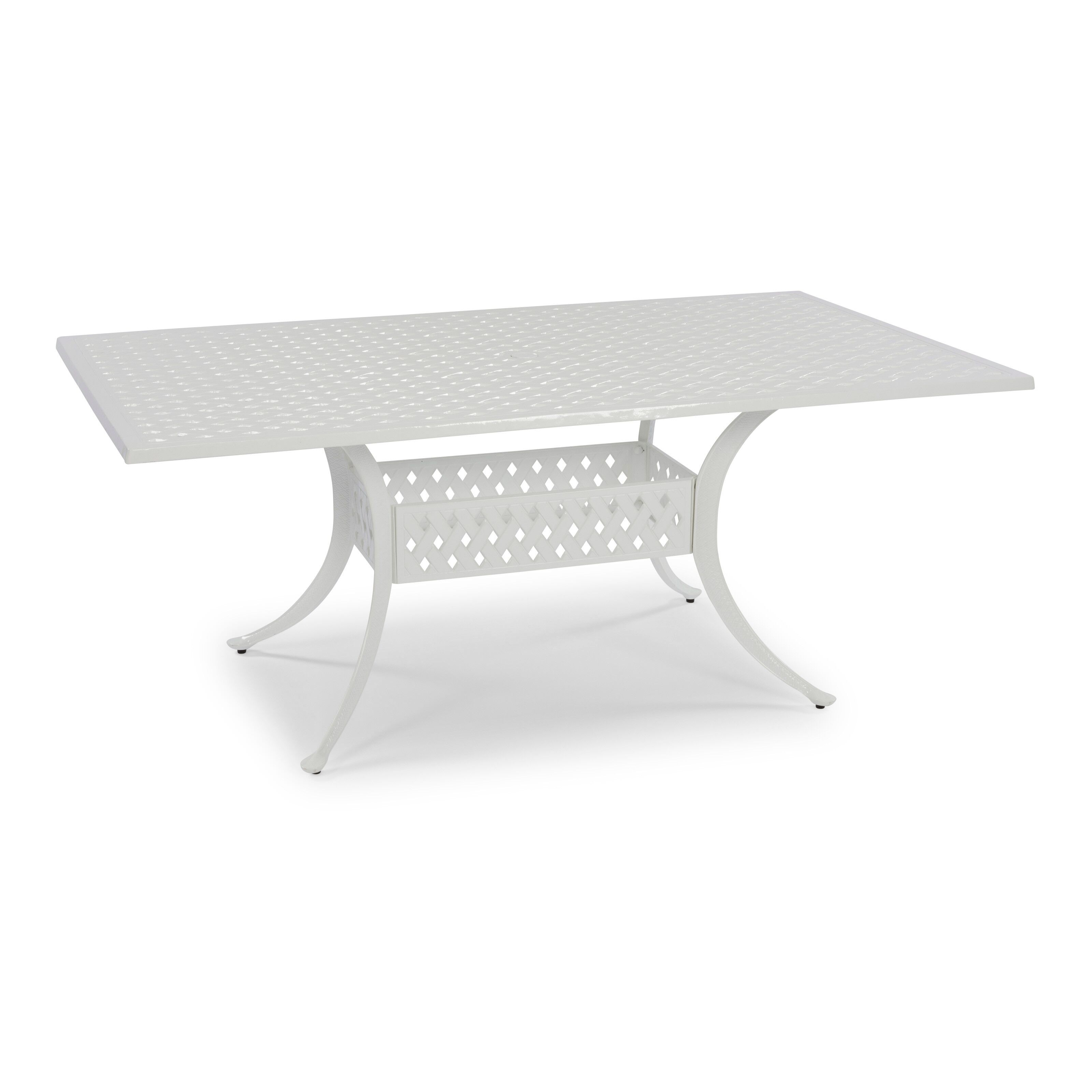 home styles la jolla cast aluminum outdoor white rectangular dining table walmart com