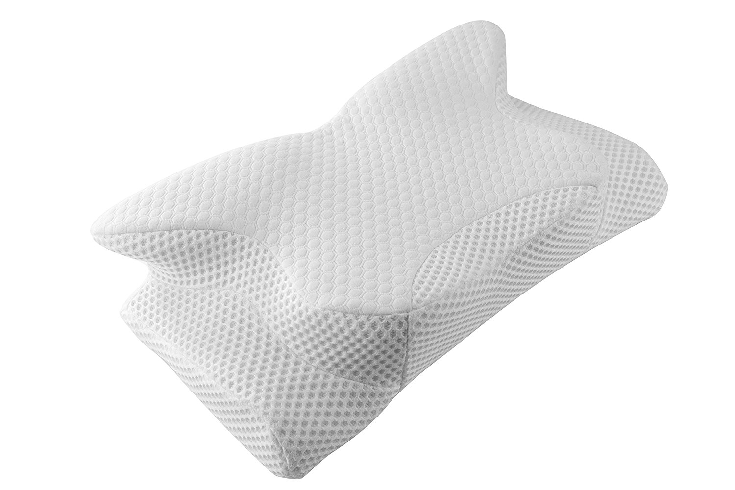 ergonomic cervical contour pillow for neck support and pain relief coisum memory foam sleeping pillow for side and back sleepers hypoallergenic