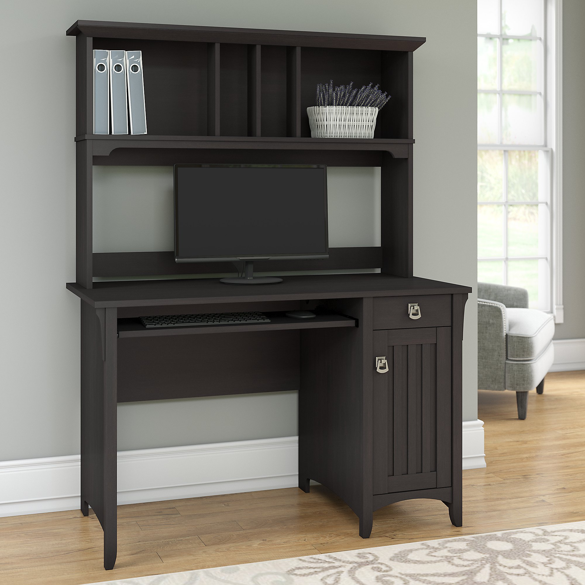 Bush Furniture Salinas Mission Style Desk With Hutch Walmart Com Walmart Com