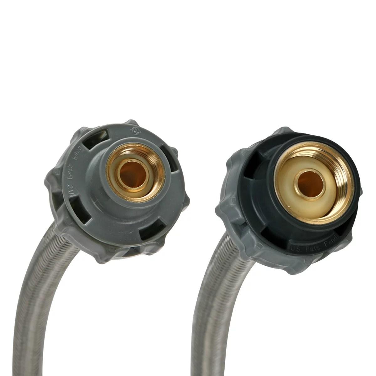 fluidmaster b1f12cs click seal stainless steel faucet connector 12 walmart com