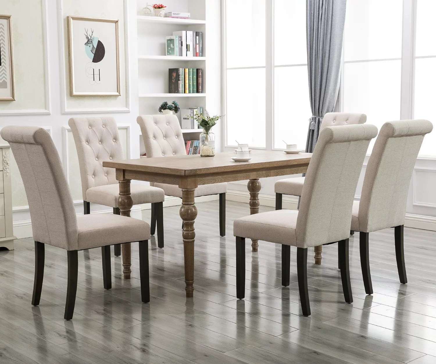 Clearance Tufted Parsons Dining Chairs Set Of 2 39 8 X22 4 X17 5