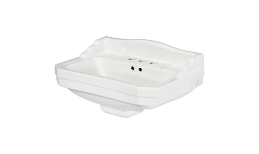 series 1920 petite 7 in pedestal sink basin in white