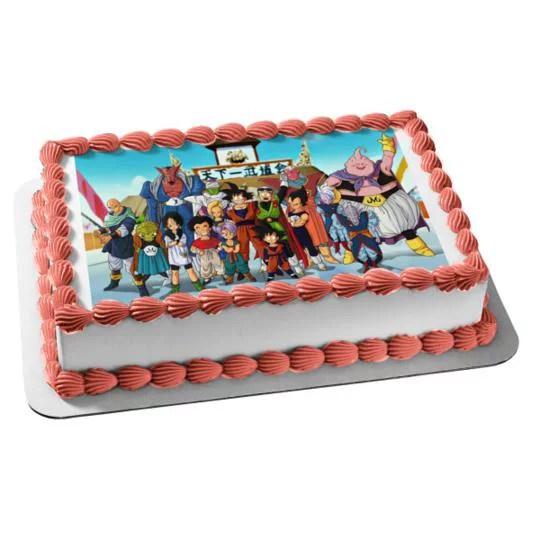 Dragon Ball Z Goku Vegete Gohan Piccolo Edible Cake Topper Image Abpid05310 Walmart Com Walmart Com