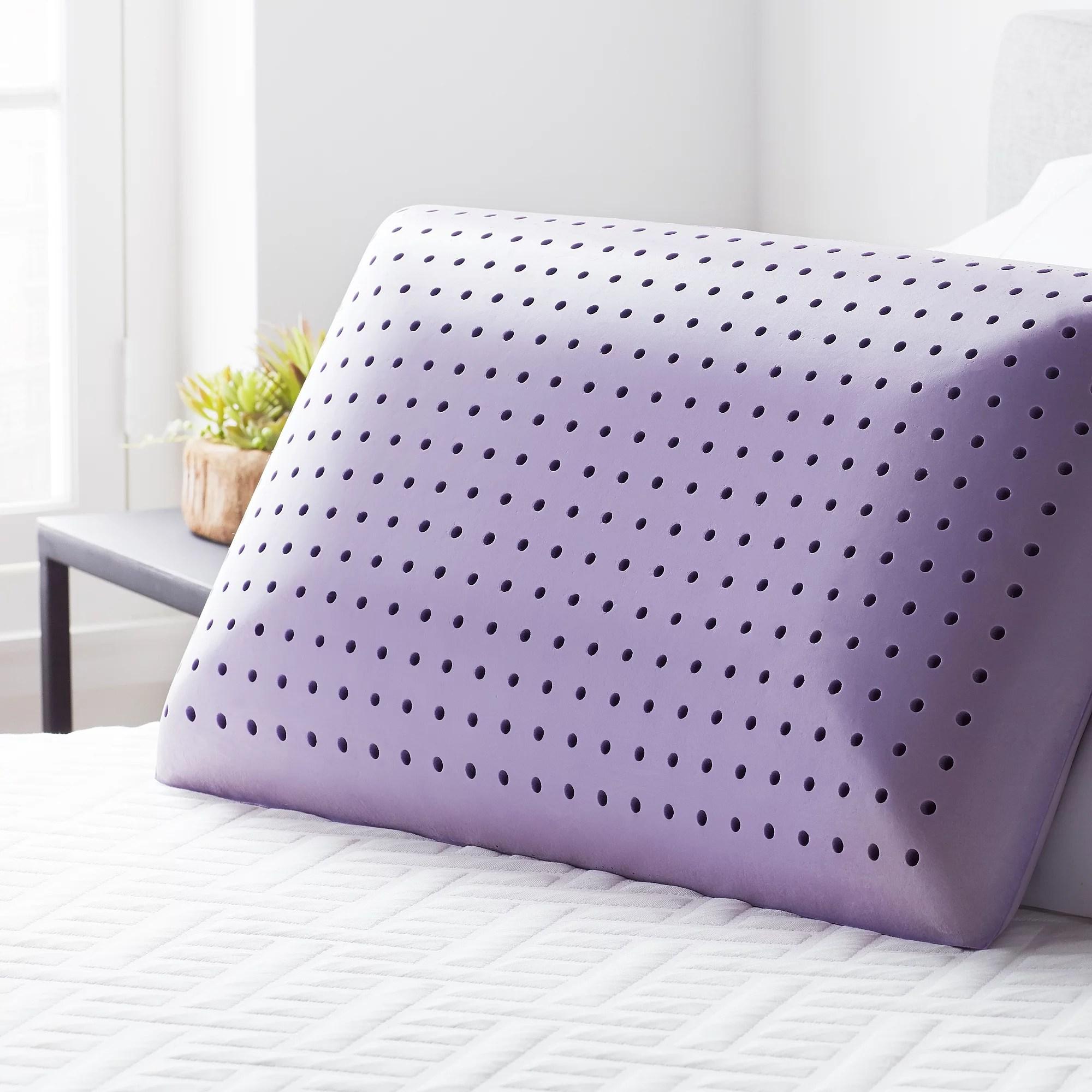 lucid calming lavender infused memory foam pillow walmart com