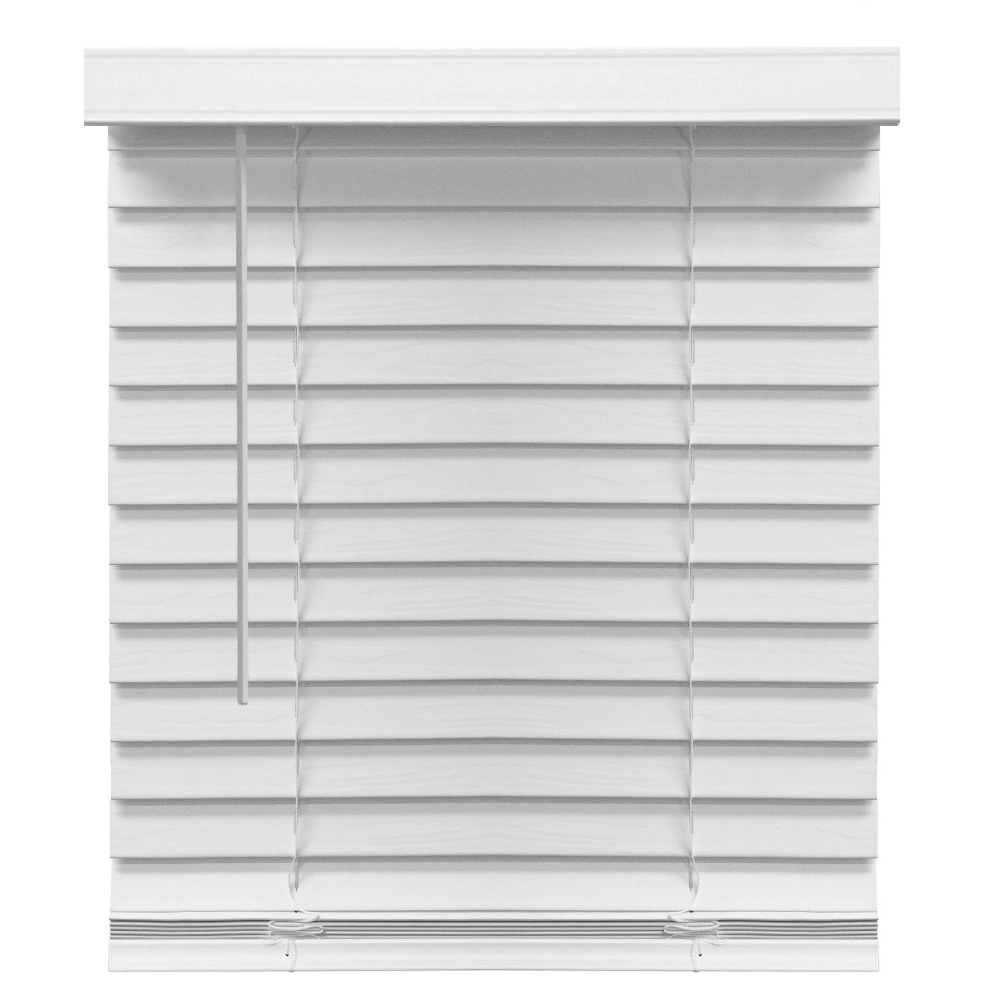 richfield studios 2 cordless faux wood blinds white