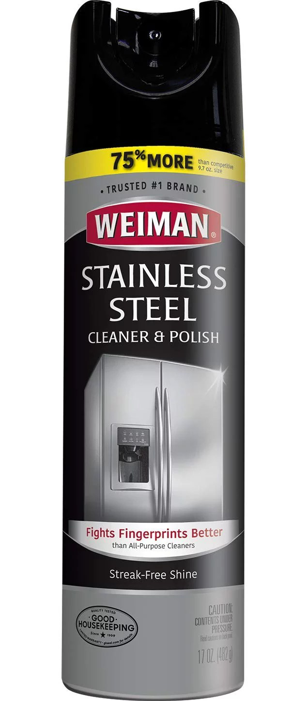 Weiman Stainless Steel Cleaner And Polish 12 Oz Walmart Com Walmart Com
