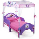 Delta Children Disney Minnie Mouse Plastic Toddler Canopy Bed Purple Walmart Com Walmart Com