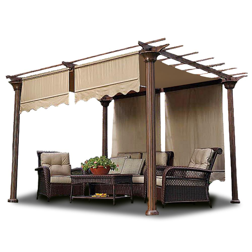 yescom 2pcs 15 5x4 patio pergola canopy replacement cover garden tent