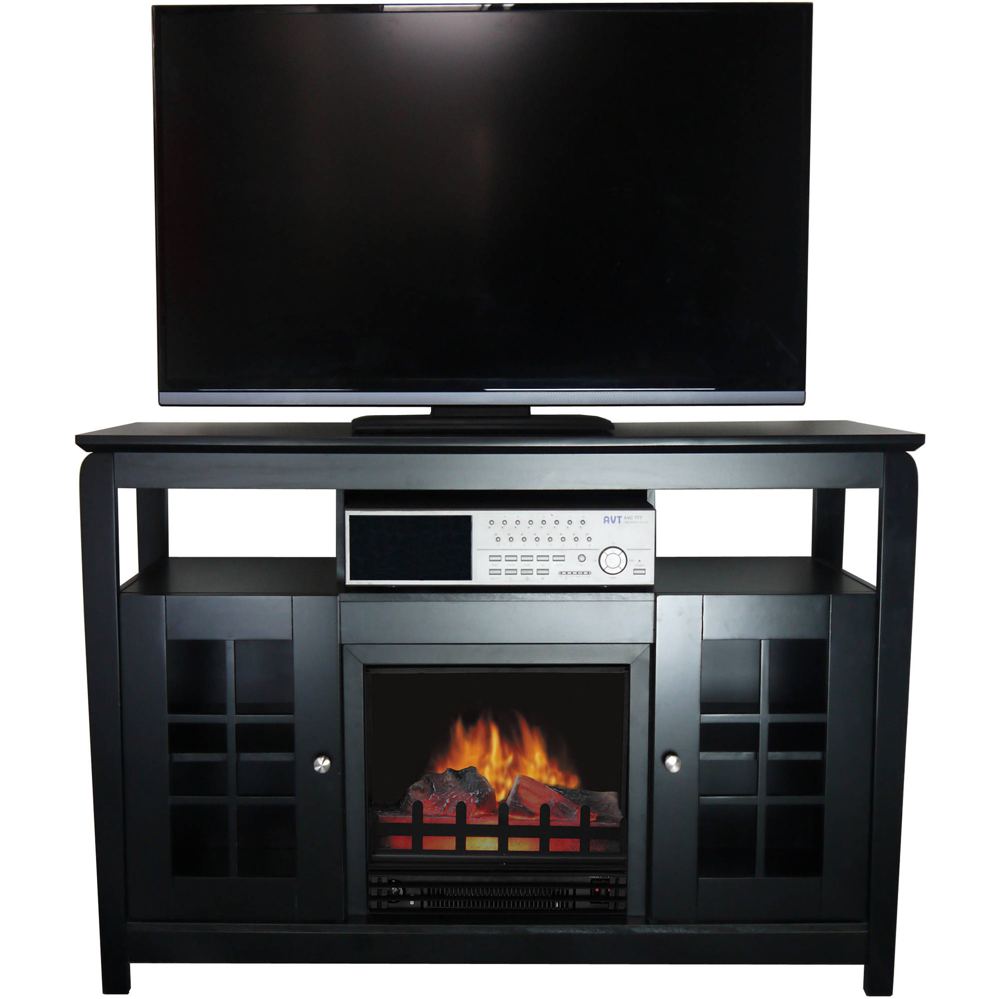 Decor Flame Fireplace Walnut For Tv S Up To 42