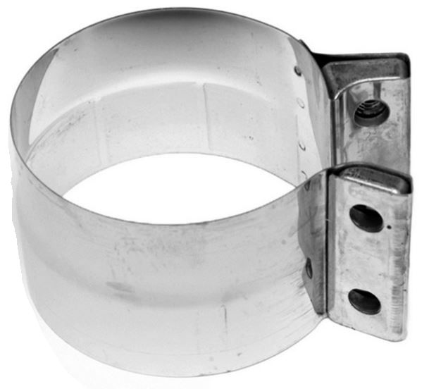 walker exhaust 33273 exhaust clamp oe replacement band clamp 3 1 2 inch diameter heavy duty stainless steel single lap joint