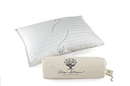 sleep artisan latex pillow standard size adjustable bed pillows with washable cover 1 made in the usa