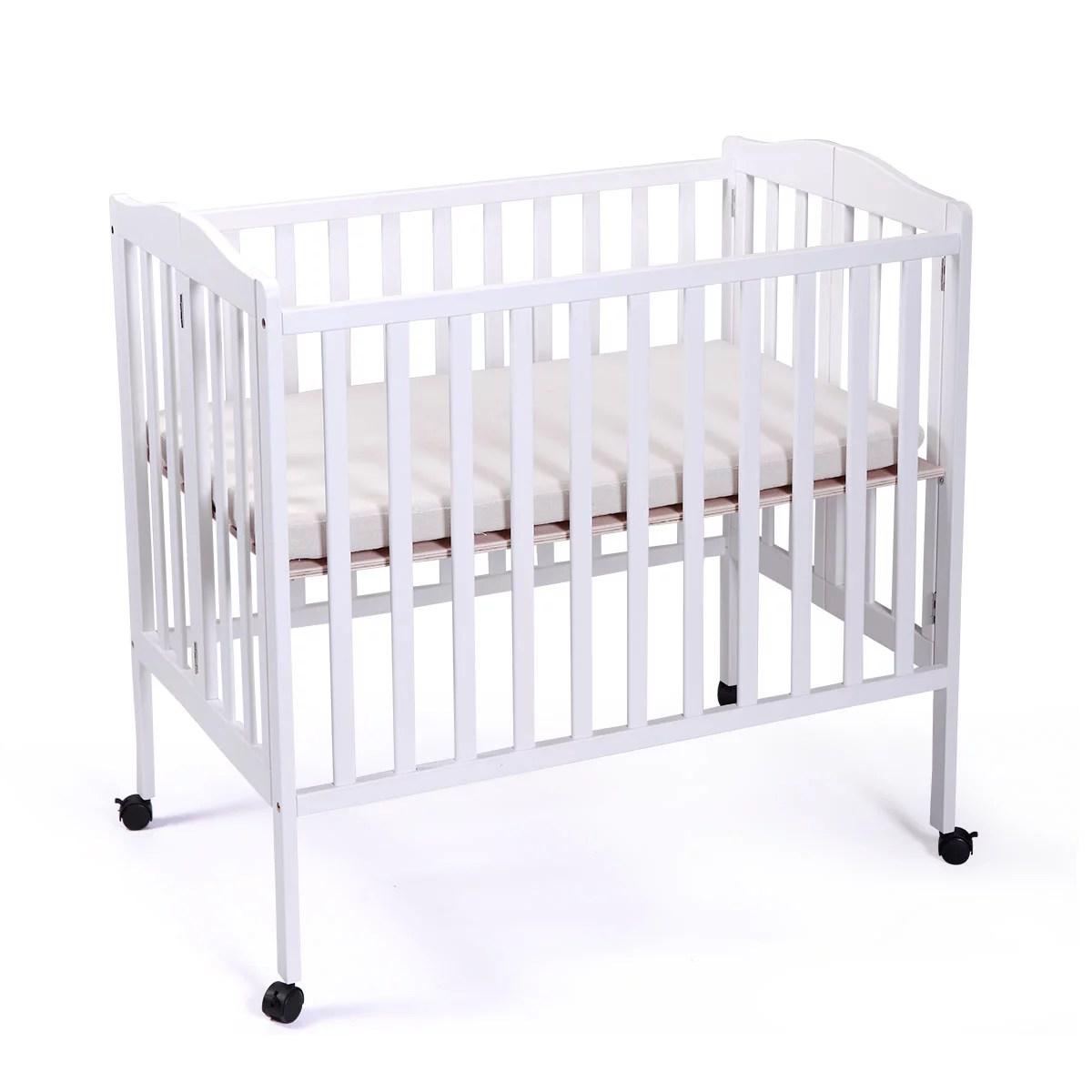 Tobbi Baby Side Crib Wooden Toddler Bed Tiendamia Com