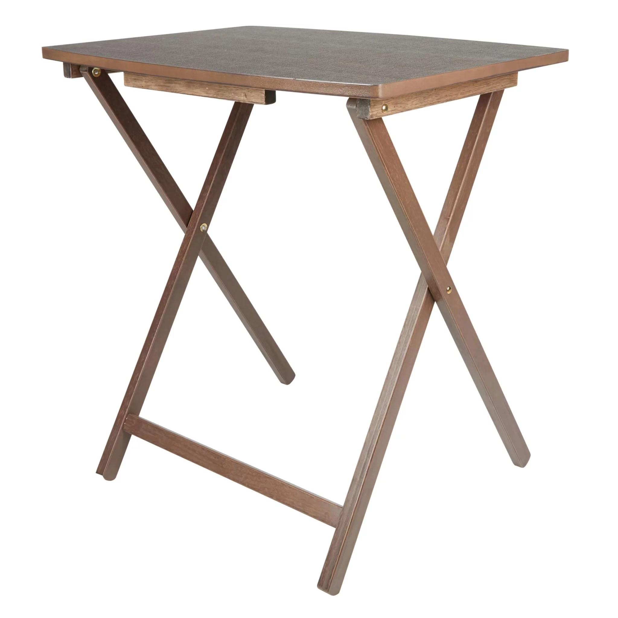 mainstays folding xl oversized tray table rustic gray