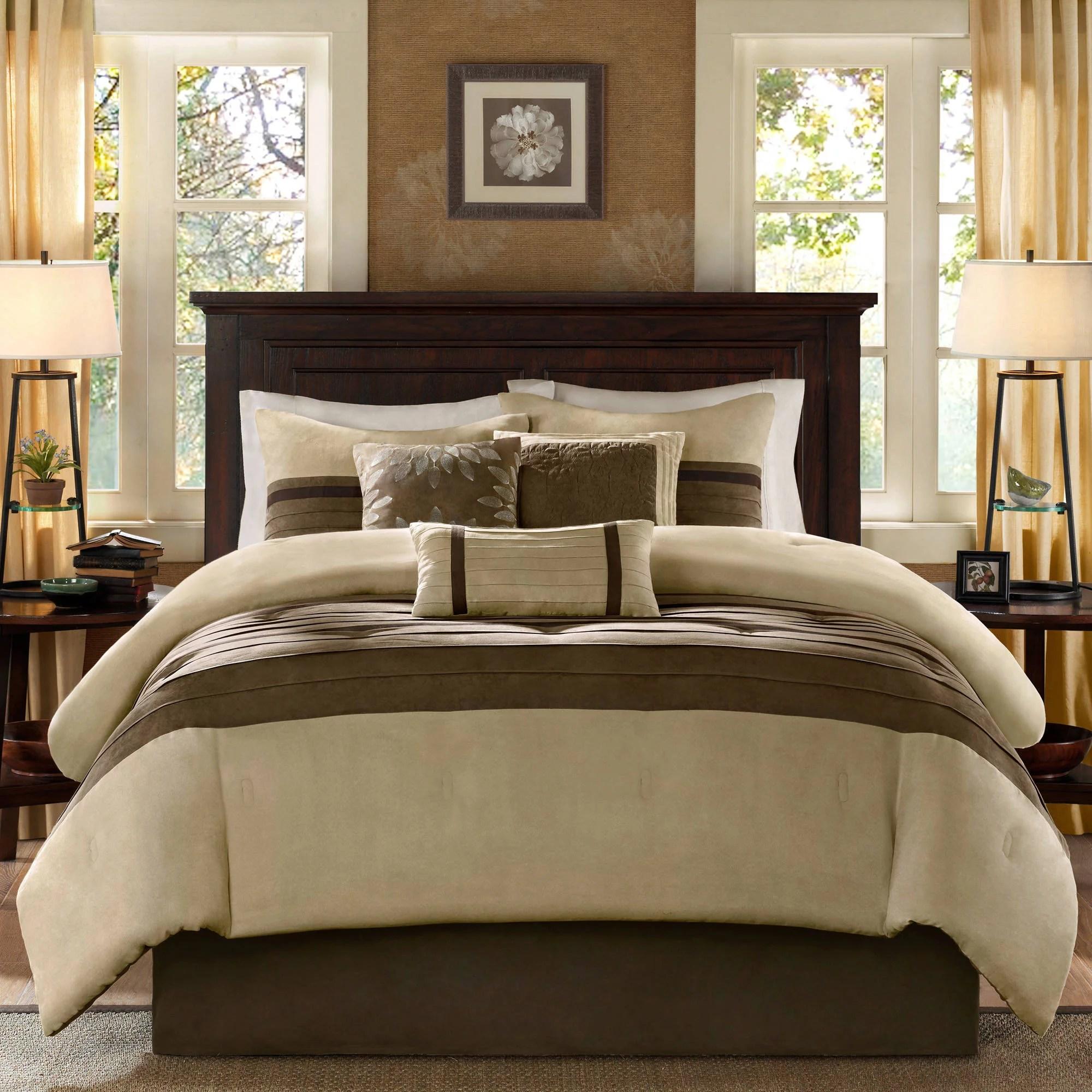 home essence dakota 7 piece microsuede comforter set walmart com