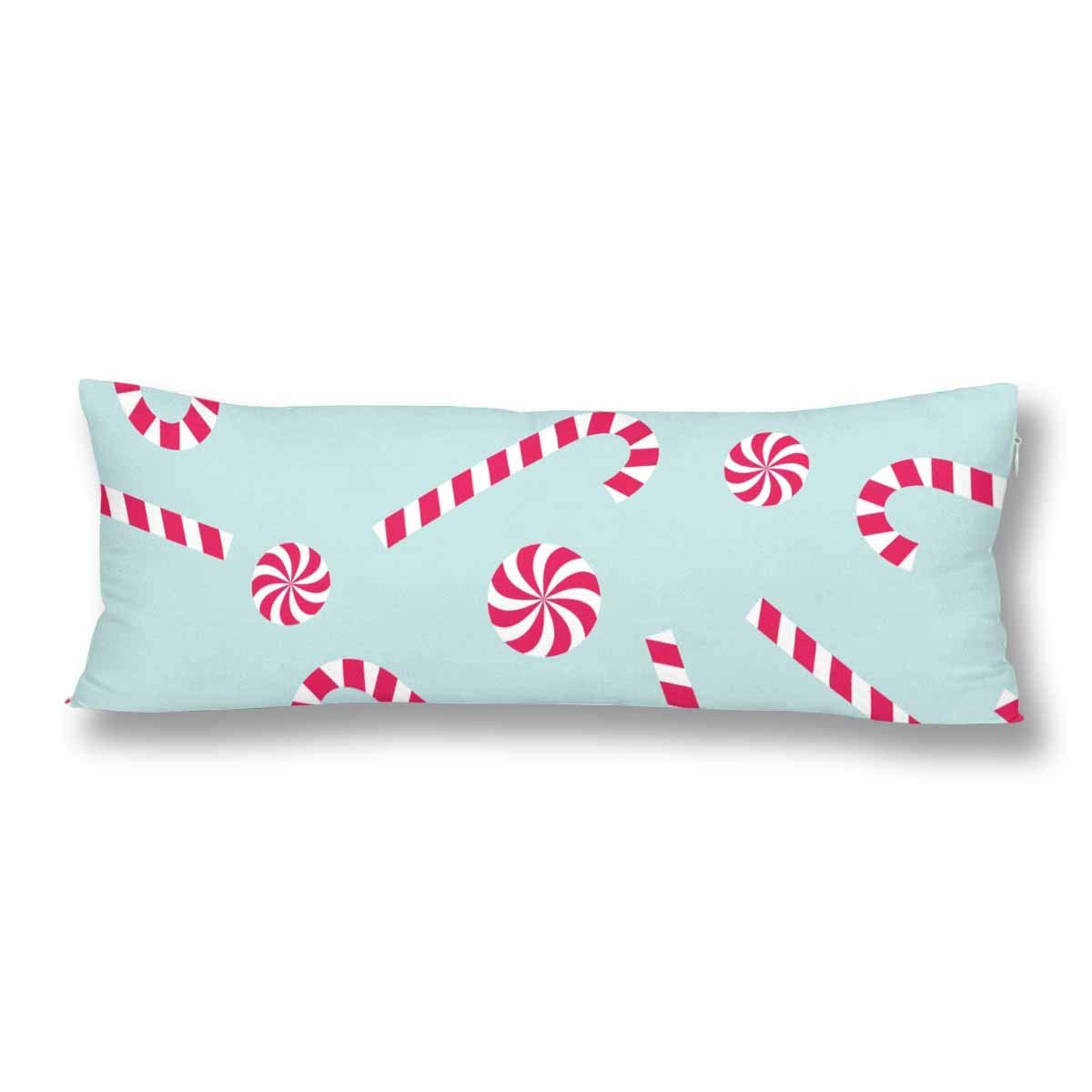 gckg candy cane lollipop new year merry christmas winter mint green body pillow covers case pillowcase 20x60 inches couch