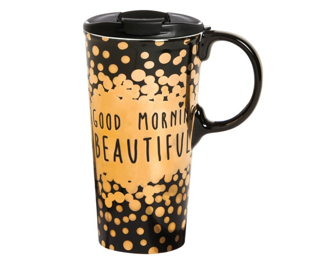 Cypress Home Good Morning Beautiful Ceramic Travel Coffee Mug  Ounces Walmart Com