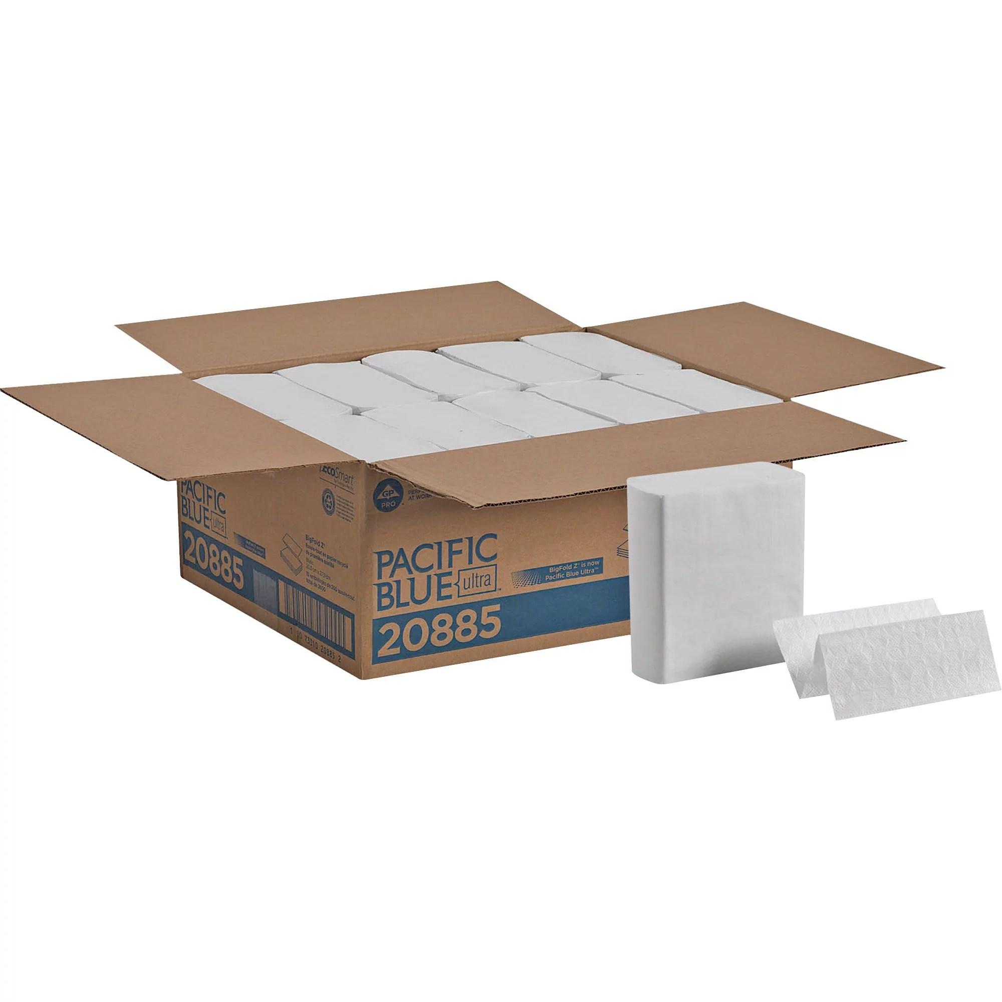 Pacific Blue Ultra, GPC20885, Z-Fold Paper Towel by GP PRO, 2600 / Carton, White