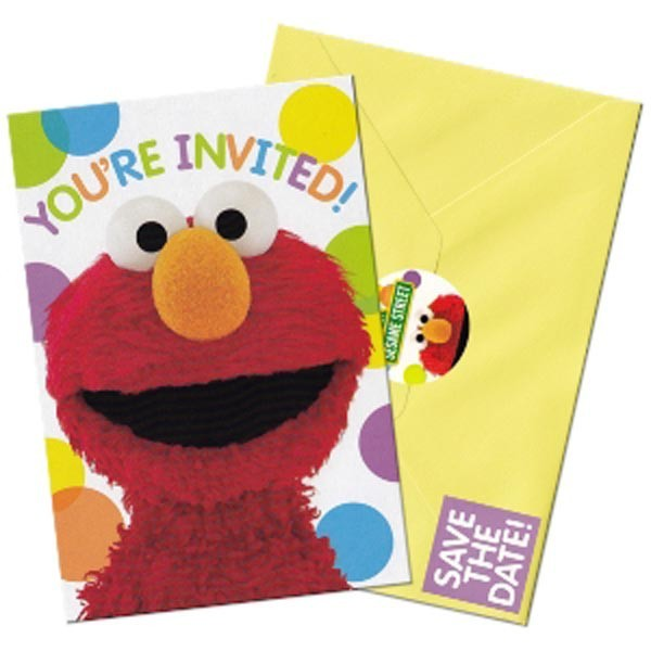 sesame street elmo s birthday party invitations 16 count save the date stickers