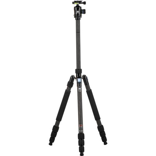 Sirui W-2204 Waterproof Carbon Fiber Tripod & K-20X Ball Head, 39.6 lb Capacity