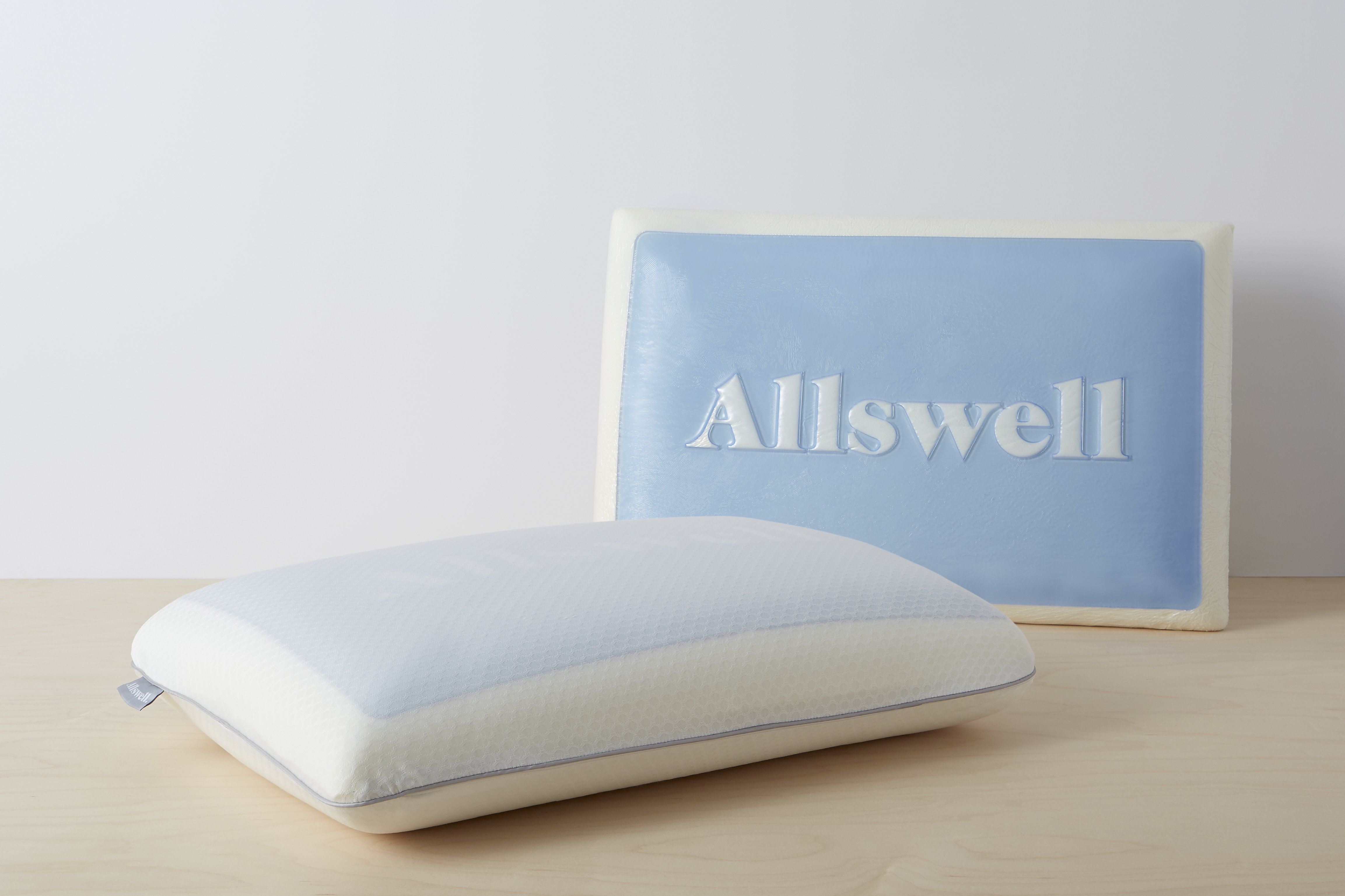 allswell memory foam cooling gel pillow with removable cover