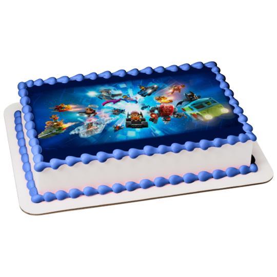 Lego Dimensions Group Wonder Woman Batman Scooby Doo Lotr Edible Cake Topper Image Walmart Com Walmart Com