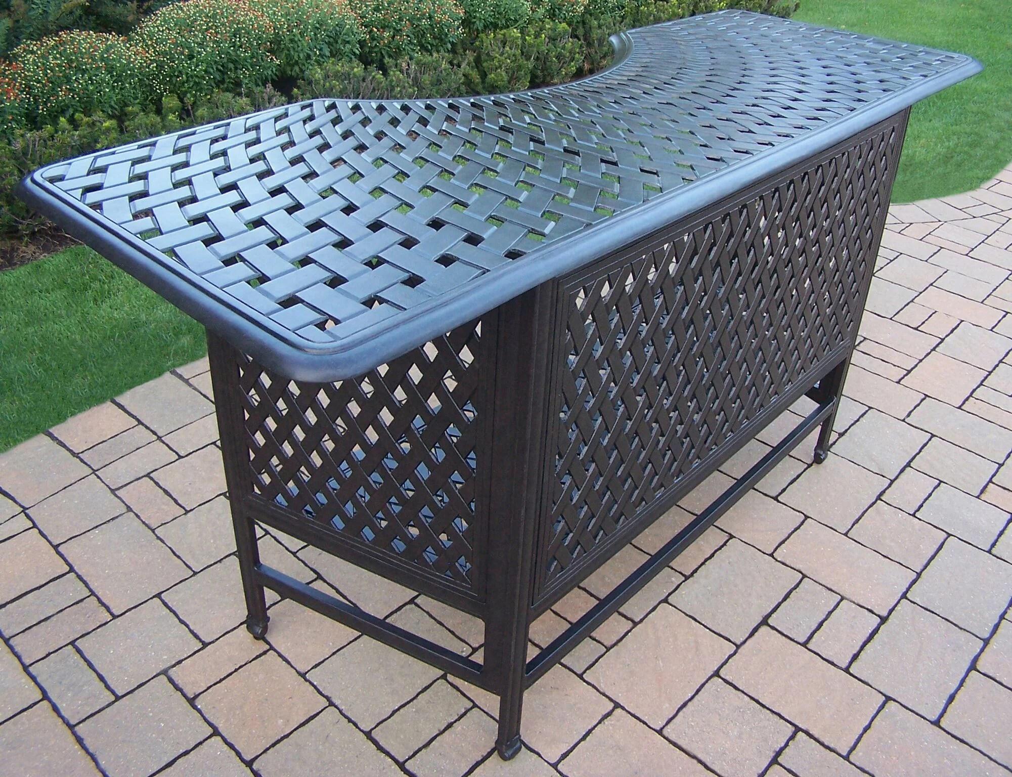 80 jet black contemporary motif outdoor patio bar table