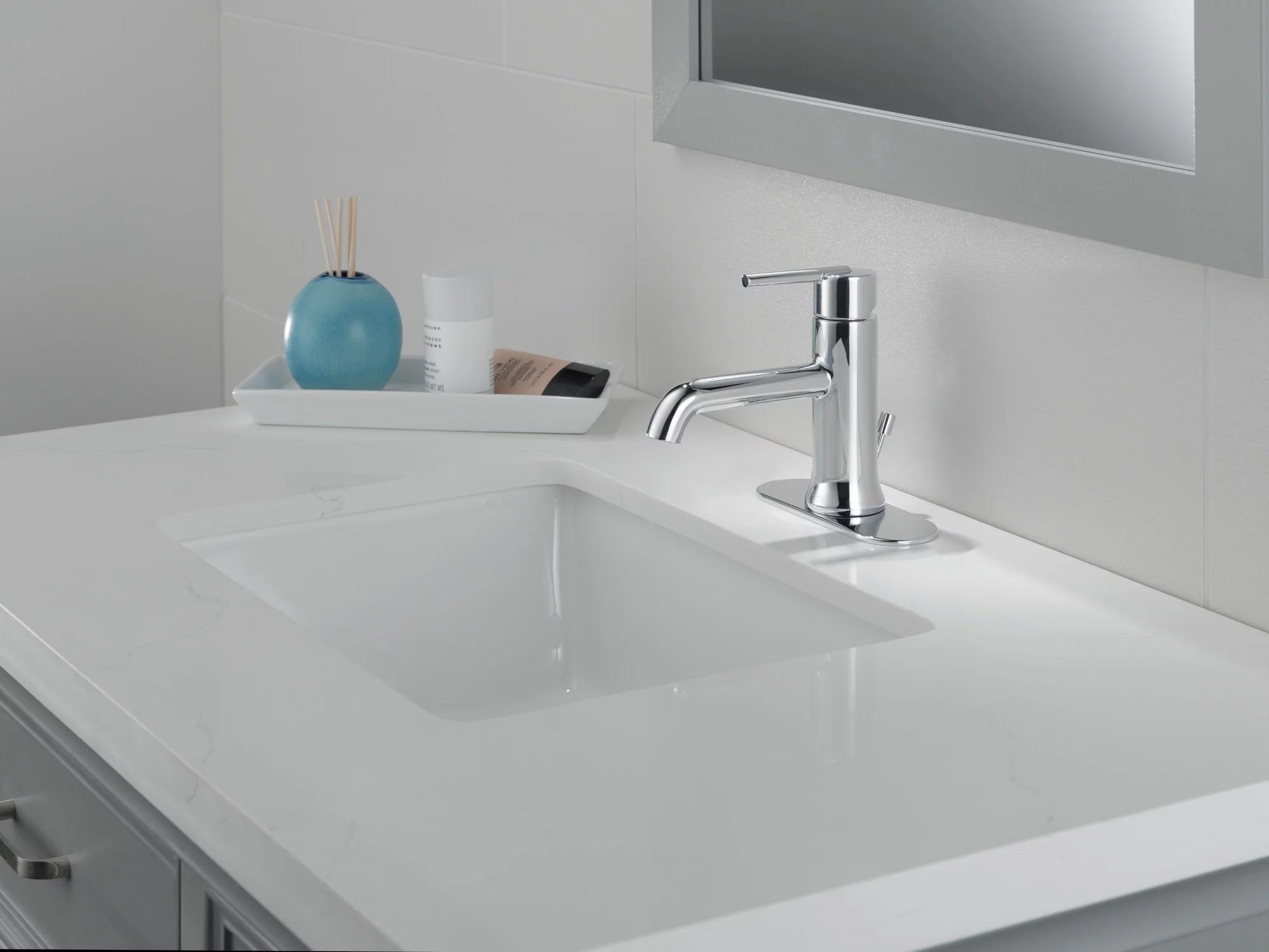 delta trinsic single handle bathroom faucet in matte black 559lf blmpu walmart com walmart com