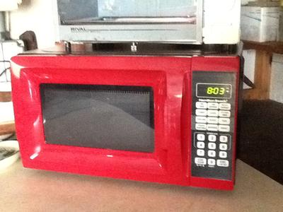 ft black microwave oven for small