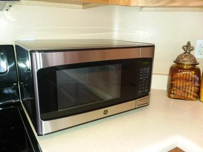 general electric 1 1 cu ft countertop stainless steel microwave oven
