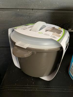 progressive prep solutions microwave rice cooker 4 piece plastic set