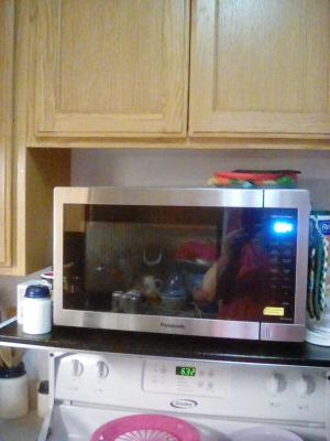 panasonic 1 3 cu ft countertop microwave oven 1100w power easy clean interior stainless steel front nn sb658s