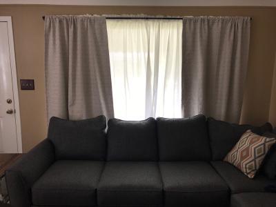 sun zero bronn 3 4 light blocking wrap around window double curtain rod 36 66 matte black