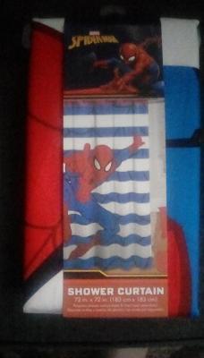 spiderman fabric shower curtain 1 each