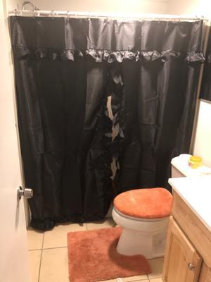 lauren double swag curtain black
