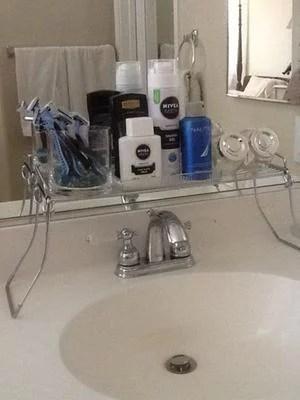 mainstays over the sink shelf chrome 1