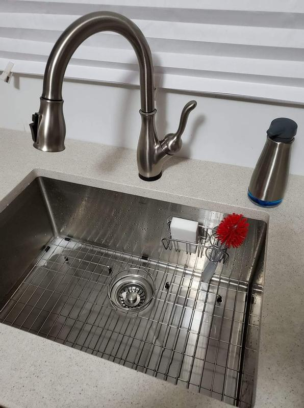delta leland single handle pull down kitchen faucet in arctic stainless 9178t ar dst