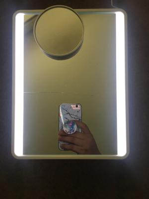80 value ihome mirror with bluetooth audio led lighting bonus 10x magnification siri google support usb charging 7 x 9