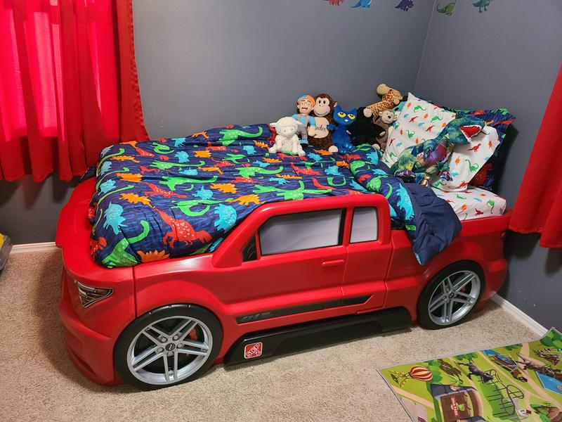 step2 turbocharged twin truck bed red