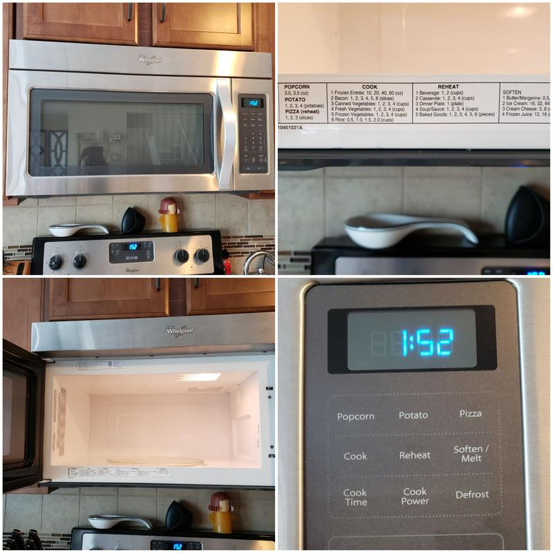 whirlpool wmh31017as 1 7 cu ft over the range microwave with 2 speed fan